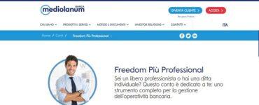 Conto Freedom Più Professional