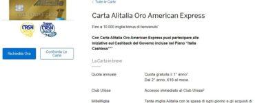 American Express Alitalia Oro