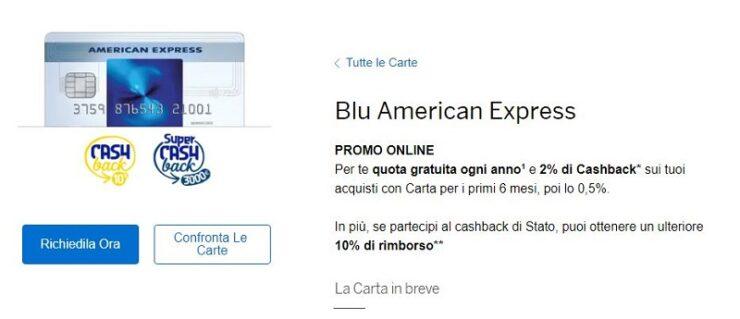 American Express Blu Carta