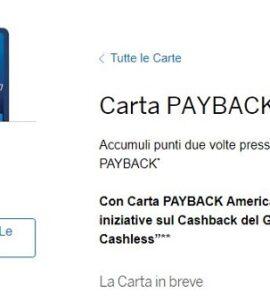 American Express Payback Carta