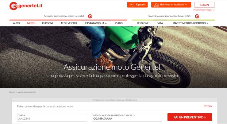 assicurazione genertel moto